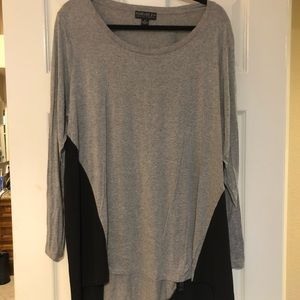 Forever21 long Sleeve Sheer Side panel Top